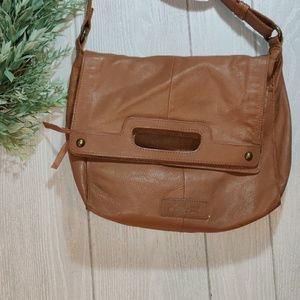 Lucky Brand leather flap closure cross body bag